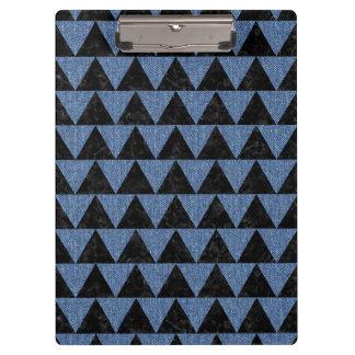 TRIANGLE2 BLACK MARBLE & BLUE DENIM CLIPBOARD