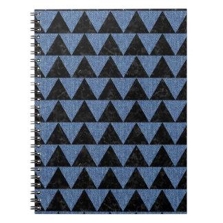 TRIANGLE2 BLACK MARBLE & BLUE DENIM NOTEBOOK