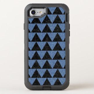 TRIANGLE2 BLACK MARBLE & BLUE DENIM OtterBox DEFENDER iPhone 8/7 CASE
