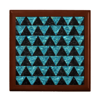 TRIANGLE2 BLACK MARBLE & BLUE-GREEN WATER GIFT BOX
