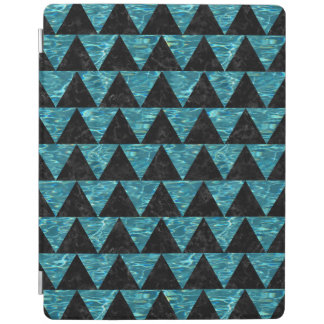 TRIANGLE2 BLACK MARBLE & BLUE-GREEN WATER iPad COVER