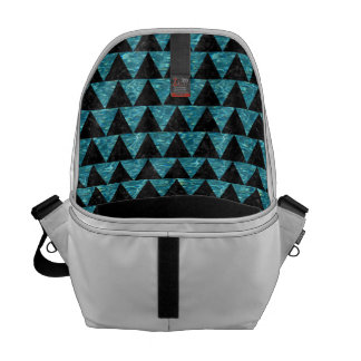 TRIANGLE2 BLACK MARBLE & BLUE-GREEN WATER MESSENGER BAG