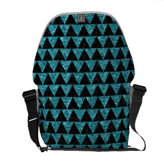 TRIANGLE2 BLACK MARBLE & BLUE-GREEN WATER MESSENGER BAGS