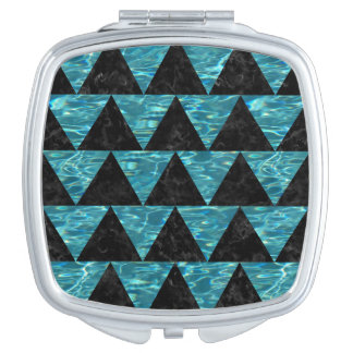 TRIANGLE2 BLACK MARBLE & BLUE-GREEN WATER MIRRORS FOR MAKEUP