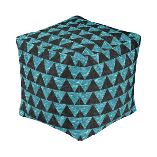 TRIANGLE2 BLACK MARBLE & BLUE-GREEN WATER POUF