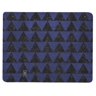 TRIANGLE2 BLACK MARBLE & BLUE LEATHER JOURNAL
