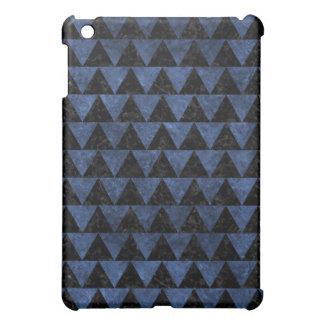 TRIANGLE2 BLACK MARBLE & BLUE STONE iPad MINI COVERS