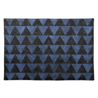 TRIANGLE2 BLACK MARBLE & BLUE STONE PLACEMAT