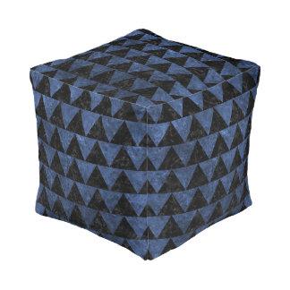 TRIANGLE2 BLACK MARBLE & BLUE STONE POUF