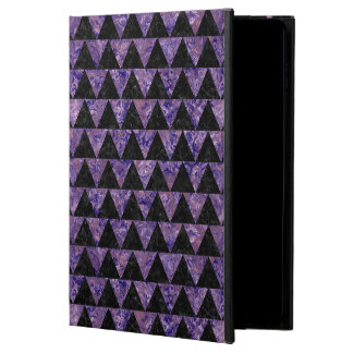 TRIANGLE2 BLACK MARBLE & PURPLE MARBLE POWIS iPad AIR 2 CASE