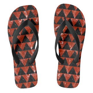 TRIANGLE2 BLACK MARBLE & RED MARBLE FLIP FLOPS