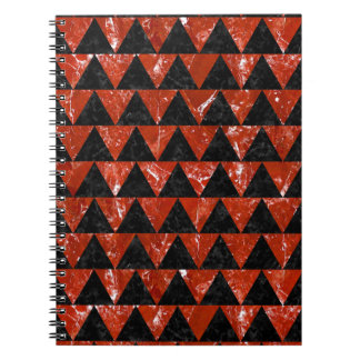 TRIANGLE2 BLACK MARBLE & RED MARBLE NOTEBOOK