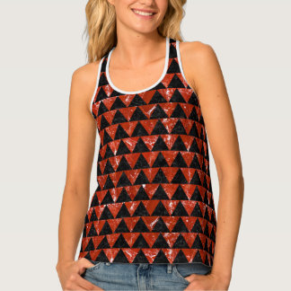 TRIANGLE2 BLACK MARBLE & RED MARBLE TANK TOP