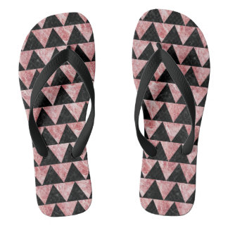 TRIANGLE2 BLACK MARBLE & RED & WHITE MARBLE FLIP FLOPS