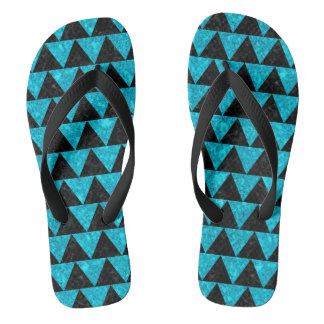 TRIANGLE2 BLACK MARBLE & TURQUOISE MARBLE FLIP FLOPS