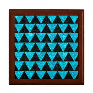 TRIANGLE2 BLACK MARBLE & TURQUOISE MARBLE GIFT BOX