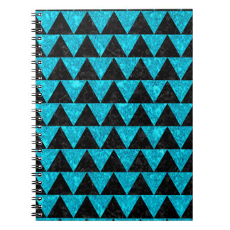 TRIANGLE2 BLACK MARBLE & TURQUOISE MARBLE NOTEBOOKS