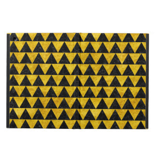 TRIANGLE2 BLACK MARBLE & YELLOW MARBLE iPad AIR COVER