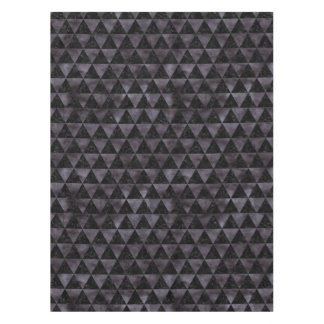 TRIANGLE3 BLACK MARBLE & BLACK WATERCOLOR TABLECLOTH
