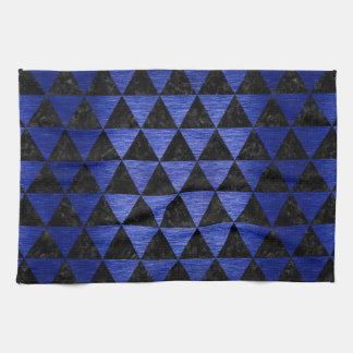 TRIANGLE3 BLACK MARBLE & BLUE BRUSHED METAL KITCHEN TOWEL