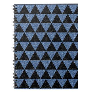 TRIANGLE3 BLACK MARBLE & BLUE DENIM NOTEBOOKS