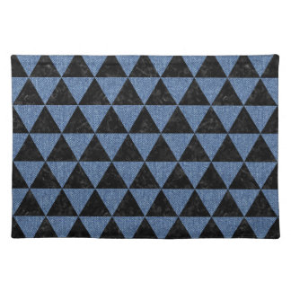 TRIANGLE3 BLACK MARBLE & BLUE DENIM PLACEMAT
