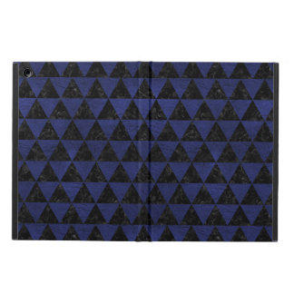TRIANGLE3 BLACK MARBLE & BLUE LEATHER COVER FOR iPad AIR