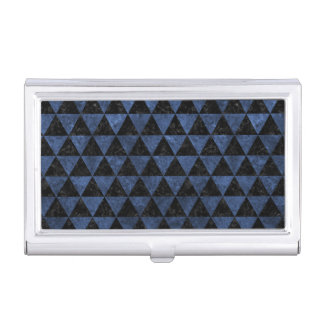 TRIANGLE3 BLACK MARBLE & BLUE STONE BUSINESS CARD HOLDER