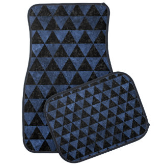 TRIANGLE3 BLACK MARBLE & BLUE STONE CAR CARPET