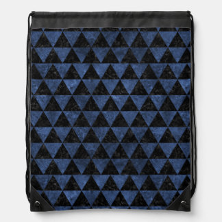 TRIANGLE3 BLACK MARBLE & BLUE STONE DRAWSTRING BAG