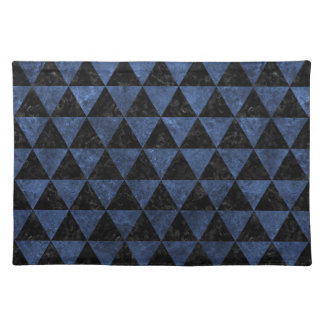 TRIANGLE3 BLACK MARBLE & BLUE STONE PLACEMAT