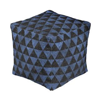 TRIANGLE3 BLACK MARBLE & BLUE STONE POUF