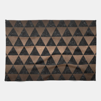 TRIANGLE3 BLACK MARBLE & BRONZE METAL KITCHEN TOWEL