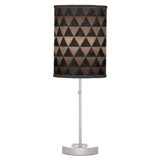 TRIANGLE3 BLACK MARBLE & BRONZE METAL TABLE LAMPS