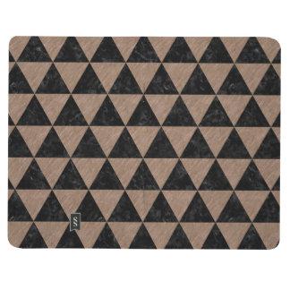 TRIANGLE3 BLACK MARBLE & BROWN COLORED PENCIL JOURNAL