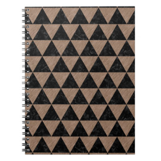 TRIANGLE3 BLACK MARBLE & BROWN COLORED PENCIL NOTEBOOKS