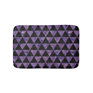 TRIANGLE3 BLACK MARBLE & PURPLE MARBLE BATH MAT