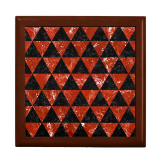 TRIANGLE3 BLACK MARBLE & RED MARBLE GIFT BOX