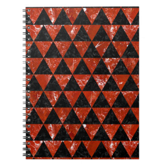 TRIANGLE3 BLACK MARBLE & RED MARBLE NOTEBOOKS
