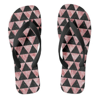 TRIANGLE3 BLACK MARBLE & RED & WHITE MARBLE FLIP FLOPS