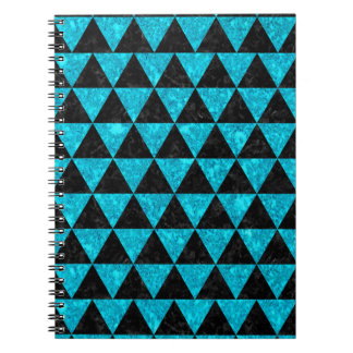 TRIANGLE3 BLACK MARBLE & TURQUOISE MARBLE SPIRAL NOTEBOOK