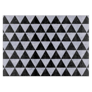 TRIANGLE3 BLACK MARBLE & WHITE MARBLE CUTTING BOARD