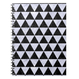 TRIANGLE3 BLACK MARBLE & WHITE MARBLE NOTEBOOK