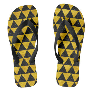 TRIANGLE3 BLACK MARBLE & YELLOW MARBLE FLIP FLOPS