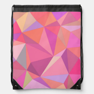 Triangle abstract drawstring bag
