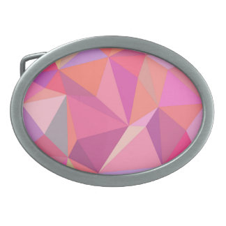 Triangle abstract oval belt buckle