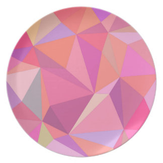 Triangle abstract plate