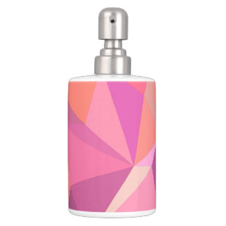 Triangle abstract soap dispenser and toothbrush holder