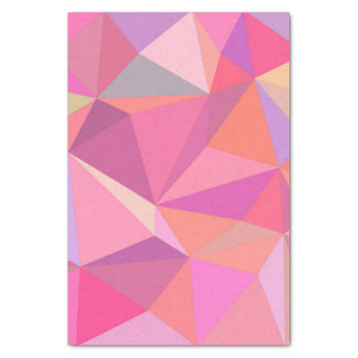 Triangle abstract tissue paper