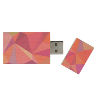 Triangle abstract wood USB 3.0 flash drive